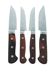 Sale 8264A - Lot 61 - Laguiole by Louis Thiers Set of 4 Artisan Steak Knives w Red Wood Handles RRP $899