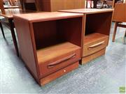 Sale 8607 - Lot 1020 - Two Unmatched G-Plan Teak Bedsides