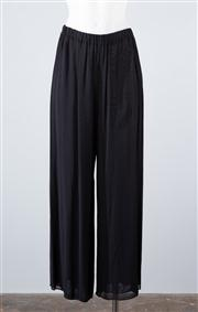 Sale 8685F - Lot 101 - A pair of Coldwater Creek black rayon palazzo pants, size 6