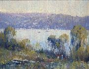 Sale 8692 - Lot 610 - Doug Sealy (1937 - ) - Draped Light & Tranquil Day, Pittwater, Sydney 29.5 x 37.5cm