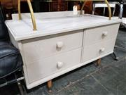 Sale 8740 - Lot 1682 - Painted Timber Low Chest of Four Drawers
