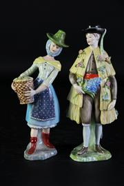 Sale 8989F - Lot 696 - Vista Alegre Regional Costume Series Portugese Tras-os-Montes Figure of a Man together with a Algarve Figure of a Lady