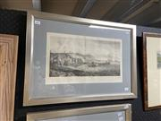 Sale 9036 - Lot 2058 - John Hawkesworth - Framed Engraving of Capt. John Byron and Landing Party in the Strait of Magellan 1773