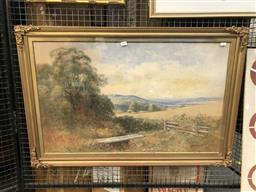 Sale 9172 - Lot 2009 - Alfred Wadham Sinclair (1866-1938) Country Valley Scene watercolour (AF), 66 x 99cm (frame) signed