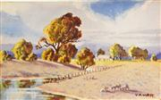 Sale 8068A - Lot 23 - Victor Robert Watt (1886 - 1970) (3 works) - Rural Landscapes each 8.5 x 13.5cm