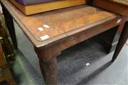 Sale 8087 - Lot 1077 - Square Form Dining Table on tapering Legs