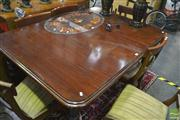 Sale 8251 - Lot 1049 - Victorian Mahogany Extension Dining Table, with single leaf, raised on castors (winder in office)