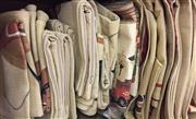 Sale 8310A - Lot 359 - A quantity of coarse linen with horse themed table cloths and cushion covers
