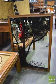 Sale 8326 - Lot 1620 - Mirror with Tree Decal