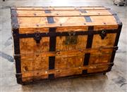 Sale 8516A - Lot 69 - An antique French fitted trunk, in excellent unrestored condition, late 1800s / early 1900s. 65cm high x 91cm wide x 53cm deep
