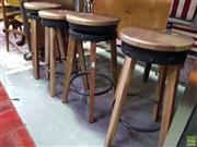 Sale 8566 - Lot 1708 - Set of 4 Industrial Style Stools