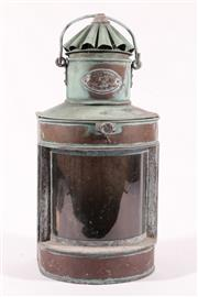 Sale 9010D - Lot 726 - French Train Signal Lantern (H: 43cm)