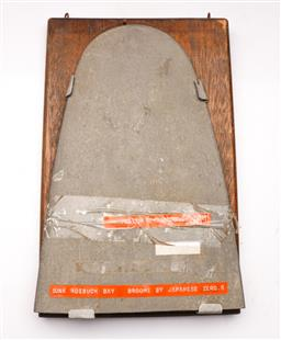 Sale 9098 - Lot 335 - Mounted Propellor TIP Dornier Dox, Sunk Roebuck Bay Broome By Japanese Zeros
