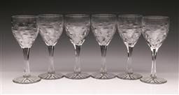 Sale 9122 - Lot 8 - A Set of Six Waterford Crystal Wine Glasses (H:17.5cm)