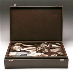 Sale 9122 - Lot 194 - A Part Christofle Cutlery Setting in Leather Clad Box