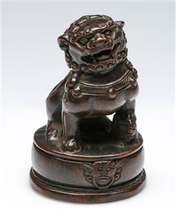 Sale 9164 - Lot 109 - A Chinese figure of a lion (H:11.5cm)