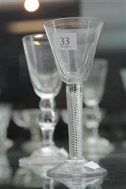 Sale 8032 - Lot 33 - 2 Possibly Georgian Glasses, one with Air Twist Stem the other with Folded Foot