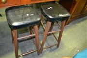 Sale 8093 - Lot 1307 - Pair of Bar Stools