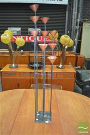 Sale 8275 - Lot 1053 - Danish Copper and Metal 9 Branch Candelabra