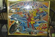 Sale 8338 - Lot 1178 - Framed Pinball Picture