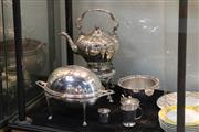 Sale 8360 - Lot 91 - Silver Plated Kettle with Other Plated Wares incl. Ice Bucket