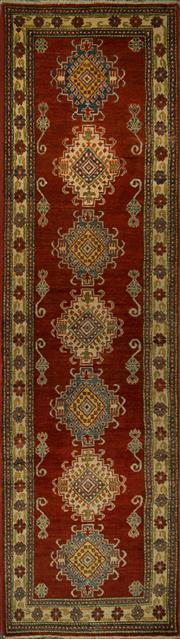 Sale 8424C - Lot 72 - Afghan Kazak Runner 306cm x 85cm