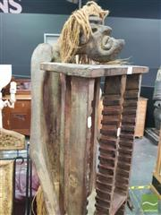 Sale 8495F - Lot 1023 - Tall Tribal CD Stand