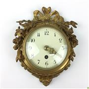 Sale 8562R - Lot 62 - Ornate Swiss Gilt Bronze Clock in Good Working Order (H: 18cm)