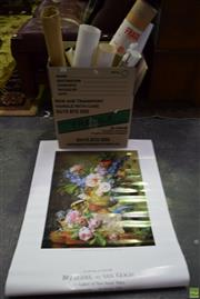 Sale 8592 - Lot 2075 - Box of Posters incl Irises by Van Gogh