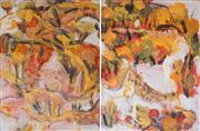 Sale 8902A - Lot 5046 - David Rankin (1946 - ) - Landscape in Red (diptych)1986 60 x 91 cm