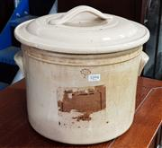 Sale 8942 - Lot 1094 - Ceramic Fowler Earthernware Canister (29 x 32cm)