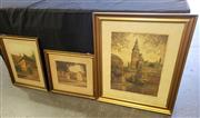 Sale 8973 - Lot 2028 - A F Willmusen (3 works) - Scenes of Germany 48 x 37cm; 36 x 28cm; 23 x 29 cm