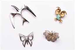 Sale 9098 - Lot 196 - Collection Of Costume Jewellery Incl Filigree Butterfly