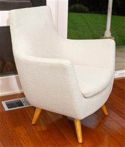Sale 9150H - Lot 131 - A single OVO fabric upholstered elbow chair in cream, Height 88cm, Width 78cm