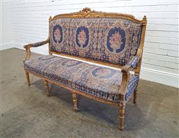 Sale 9174 - Lot 1056 - French-style settee (w: 170cm)