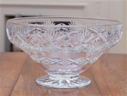 Sale 9190H - Lot 84 - A large English Webb Corbett hand cut lead crystal footed bowl C: 1940's