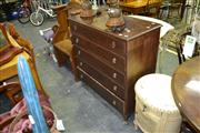 Sale 8019 - Lot 1051 - Timber Chest of 5 Drawers