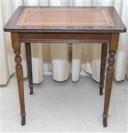 Sale 8402H - Lot 34 - An elegant leather topped side table of rectangular form. Height 48cm, width 46cm, depth 31cm.
