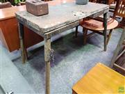Sale 8607 - Lot 1091 - Vintage Industrial Bench (H: 87 W: 145 D: 81cm)
