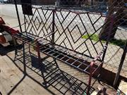 Sale 8839 - Lot 1376 - Pair of Wrought Iron Garden Benches - 262