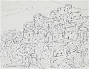 Sale 8908A - Lot 5006 - Desiderius Orban (1884 - 1986) - Untitled (Hillside Town) 19 x 25 cm