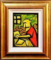 Sale 9015J - Lot 43 - Pro Hart - The Miner 29x22cm