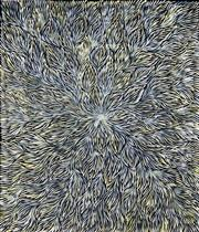 Sale 9034A - Lot 5065 - Patricia Kamara (c1960 - ) - Bush Leaf Dreaming 137 x 118 cm (stretched and ready to hang)