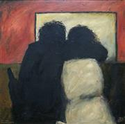 Sale 9061A - Lot 5030 - Kevin Charles (Pro) Hart (1928 - 2006) - The Lovers, Brewarrina Hotel, 1978 90 x 90 cm