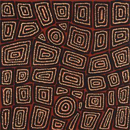 Sale 9148A - Lot 5005 - THOMAS TJAPALTJARRI (c1964 - ) Tingari acrylic on linen 60 x 60 cm (stretched and ready to hang) signed verso, certificate of authen...