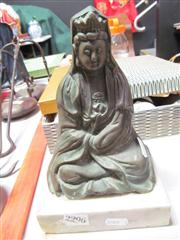 Sale 8032 - Lot 60 - Bronze Buddha on Marble Stand