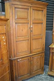 Sale 8093 - Lot 1722 - Antique Pine Two-Part Corner Cabinet (key in office)