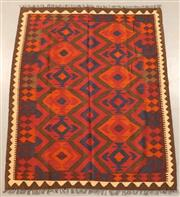 Sale 8445K - Lot 87 - Maimana Afghan Kilim Rug , 196x162cm, Handwoven in Northern Afghanistan using durable local wool. Traditional and reversible slit we...