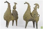 Sale 8572 - Lot 97 - Mid 20th Century Statues of Knights on Horses by Iris Galbraith