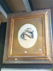 Sale 8640 - Lot 2058 - Artist Unknown - The New Hat, Pastel
